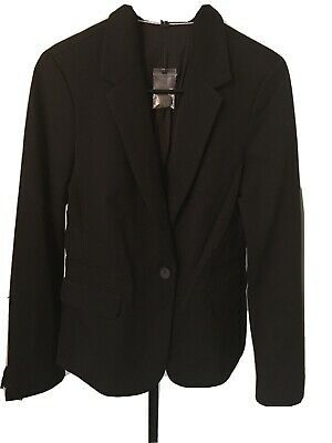 Brand New EXPRESS Fitted One-Button Black Blazer Size 8 Photo
