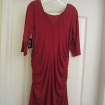 Brand New Express Red 3/4 Quarter Sleeve Dress Size Large New With Tags Photo