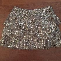 Brand New Express Skirt Silver Sequins Ruffles Nwt 79 Photo