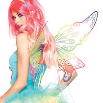 Brand New Fantasy Rainbow Fairy Wings One Size Multicolor A1960 Photo