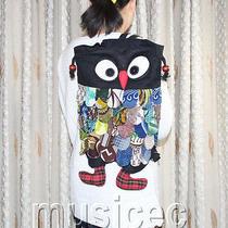 Brand-New Fashion Black Chinese Handmade Flax Owl Bag Purse T458a66 Photo