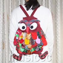 Brand-New Fashion Dark Red Chinese Handmade Flax Owl Bag Purse T462a66 Photo