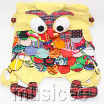 Brand-New Fashion Light Yellow Chinese Handmade Flax Owl Bag Purse T465a66 Photo
