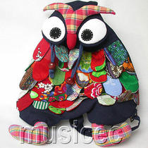 Brand-New Fashion Navy Blue Chinese Handmade Flax Owl Bag Purse T382a60 Photo
