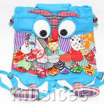 Brand-New Fashion Sky-Blue Chinese Handmade Flax Owl Bag Purse T460a66 Photo