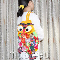Brand-New Fashion Yellow Chinese Handmade Flax Owl Bag Purse T461a66 Photo