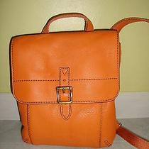 Brand New Fossil Tate Small Flap Light Orange Leather Crossbody bag(msrp138.00) Photo