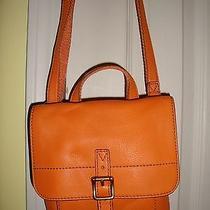 Brand New Fossil Tate Small Flap Light Orange Leather Crossbody bag(msrp138.00) Photo