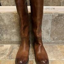 Brand New Frye Melissa Button 2 Cognac Knee Boots Size 8  Msrp 348 Photo