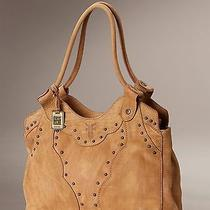Brand New Frye Vintage Stud Shoulder Bag Tumbled Tan Leather International Ship Photo