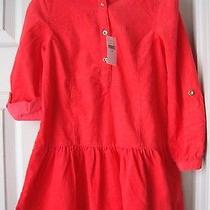 Brand New Gap Kids Fit &flare Corduroy Holday Dress Coral Color Size Xs (4-5yrs) Photo