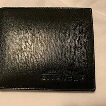 Brand New Gentlemen Givenchy Bifold Leather Wallet (Black) Photo