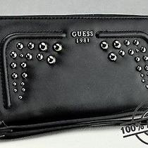 Brand New Genuine Guess Ladies Wallet Purse Athina Black Women Slg Photo