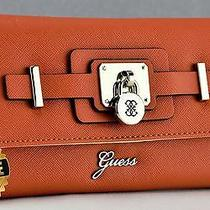 Brand New Genuine Guess Ladies Wallet Purse Greyson Orange Women Slg Photo