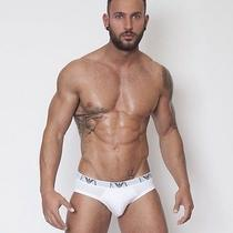 Brand New Georgio Armani Pure Cotton Briefs. Small S. White. Other Colours. Bnib Photo