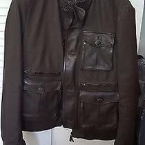 Brand New Giorgio Armani Leather Jacket Size Eu 52 Photo
