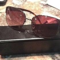 Brand New Givenchy Sunglasses Sgv 416 col.0568 Brown Case and Cleaning Cloth Photo