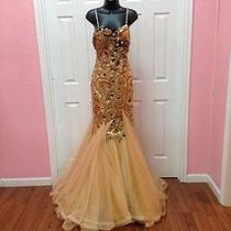 Brand New Gold Blush Prom Dress Sz6 Photo