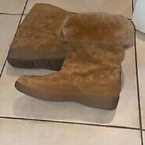 Brand New Golden Brown Coach Logo Womens Boots Size 9 Photo