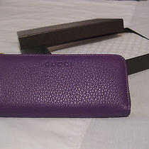 Brand New Gucci Leather Wallet - Purple Portafoglio Cellarius Photo