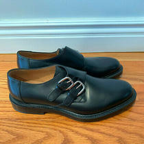 Brand New Gucci Men's Black Leather Dress Shoes Double Buckle Size 8 Photo