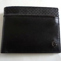 Brand New Guess Black Mens Bifold Wallet Photo