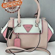 Brand New Guess Genuine Handbag Ladies Tonga Blush Multi Satchel Tote Bag Purse Photo
