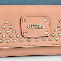 Brand New Guess Ladies Pavilla Wallet Blush Purse Photo