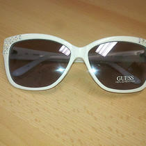 Brand New Guess Women's White Sunglasses Model Gu7140 Very Stylish 59-13-135 Photo