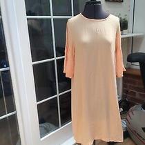 Brand New h&m Concious Pastel Peach Orange Puff Sleeve Sun Dress 38 10 Photo
