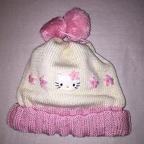 Brand New Hello Kitty Pom Pom White & Pink Hat Girls Cute Photo
