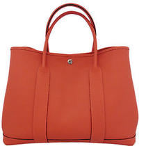 Brand New Hermes Rouge Pivoine Clemence Leather Garden Party Pm Tote Bag Photo