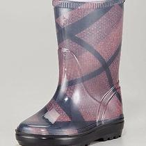 Brand New in Box Burberry Kids Checked Rainboots  Photo