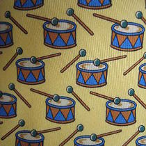 Brand New in Older Box Unworn Hermes Tie Drums and Drumsticks 7565 Sa  Photo