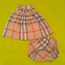 Brand New Infant Burberry Pale Classic Dress Photo