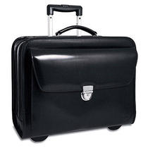 Brand New Jack Georges Elements Collection Rolling Laptop Leather Briefcase Photo