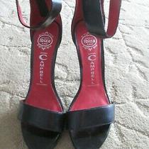 Brand New Jeffrey Campbell Black Leather Platform Zipper Back Sandal Shoes 9 New Photo