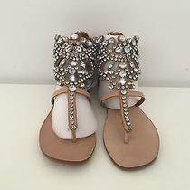 Brand New Jeffrey Campbell Prizzy Us 9 Flat Stone Sandals Photo