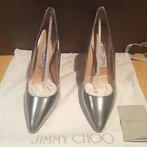 Brand New Jimmy Choo Romy 85 in Silver Eu Size 38 Photo