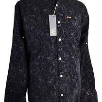 Brand New Just Roberto Cavalli Black Dress Shirt Size Xl Photo