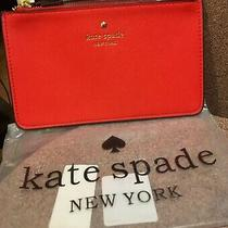 Brand New Kate Spade Large Wristlet. Color - Red Photo