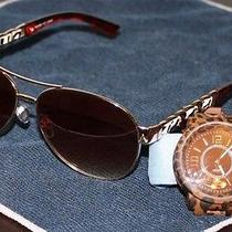 Brand New Kay Unger Sunglasses With a Quartz Leopard Print Watch Photo