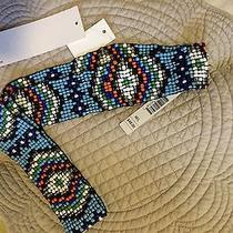 Brand New Kensie Glass Beaded American Indian Style Stretch Accent Womens Belt Photo