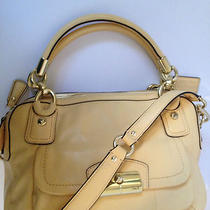 Brand New Kristin Leather Double Zip Satchel F22304 Buttery Yellow Photo