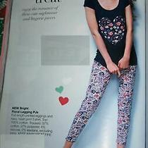 Brand New Ladies Avon Floral Heart Cotton Blend Pyjamas/pjs Size 8/10  Photo
