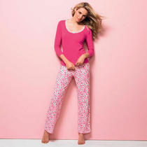 Brand New Ladies Avon 'Sweetheart' Pink Cotton Pjs/pyjamas Size 16/18 Photo