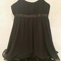 Brand New Laundry by Shelli Segal Little Black Cocktail Ruffle Mini Dress 249 Photo