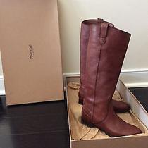 Brand New Leather Riding Boots Madewell Archive Size 7 Mahogany Photo