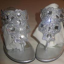 Brand  New Manolo Blahnik  Women's  Shoes  Sandals Silver Wedding    Size 9 Photo