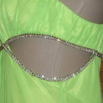 Brand New mary.l Couture Lime Green Drag Queen Dress 12 Photo